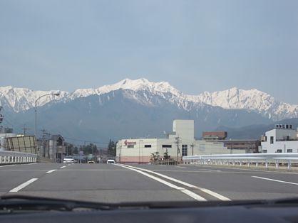 雪山が綺麗